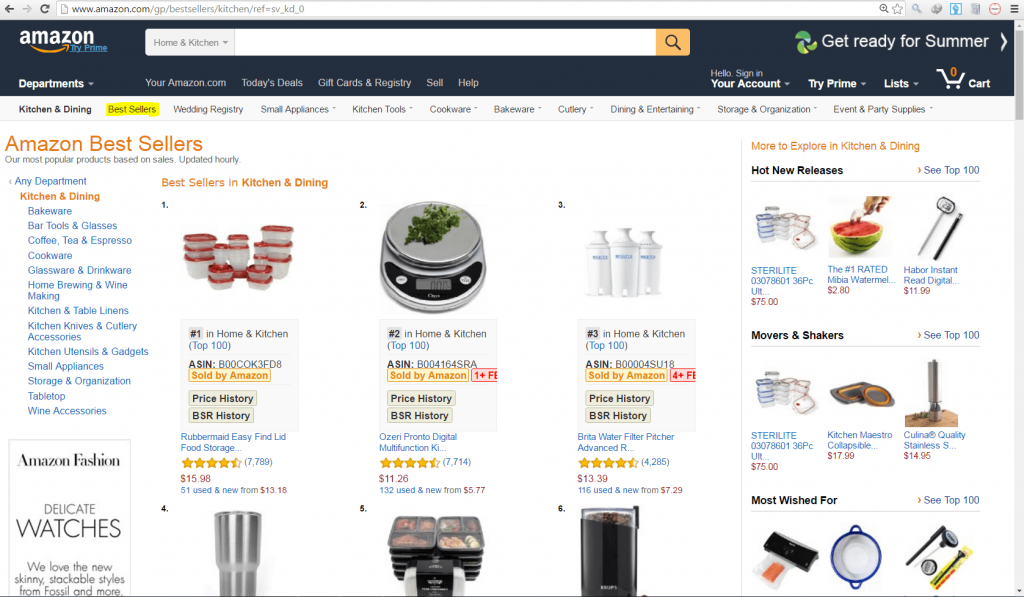 Amazon Best Sellers Kitchen